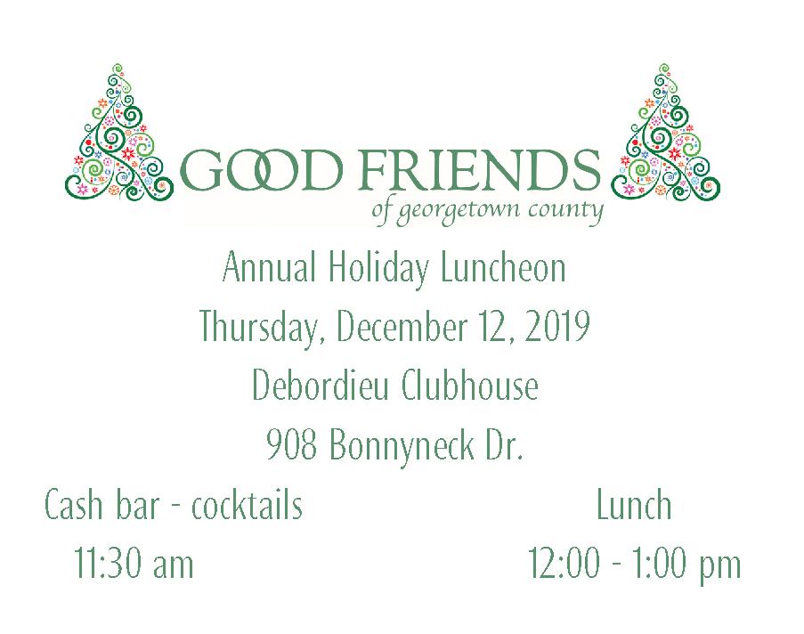 Good Friends 2019 Luncheon